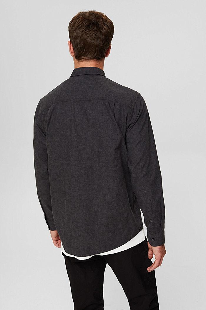 Gemêleerd overhemd van 100% biologisch katoen, DARK GREY, detail image number 3