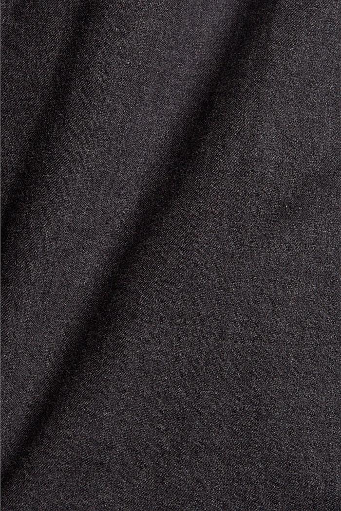 Gemêleerd overhemd van 100% biologisch katoen, DARK GREY, detail image number 4