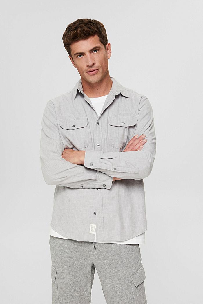 Shirts woven Regular Fit, LIGHT GREY, detail image number 0