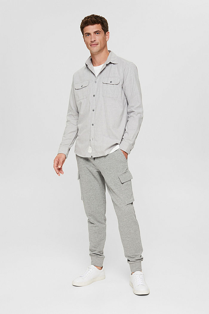 Shirts woven Regular Fit, LIGHT GREY, detail image number 5