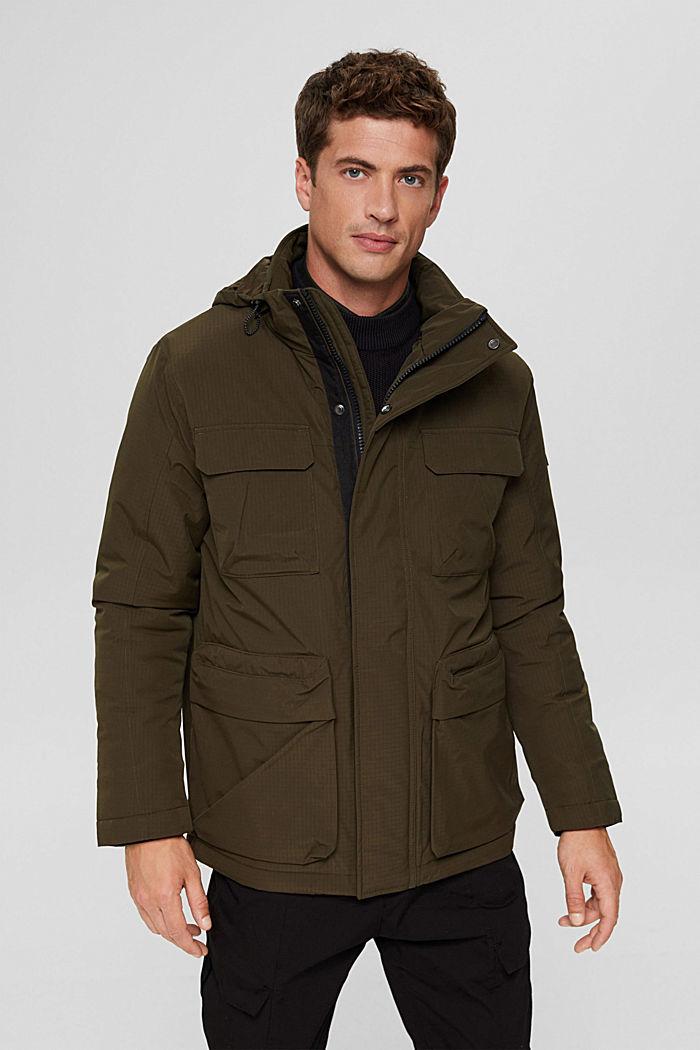 Jackets outdoor woven, DARK KHAKI, detail image number 0