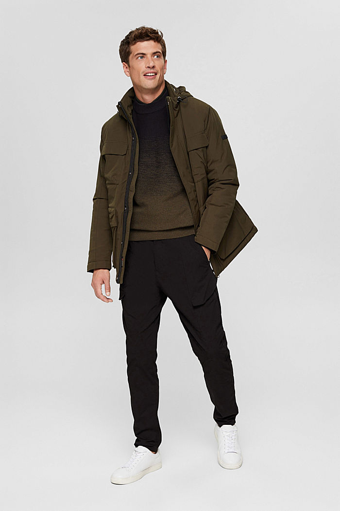 Jackets outdoor woven, DARK KHAKI, detail image number 1