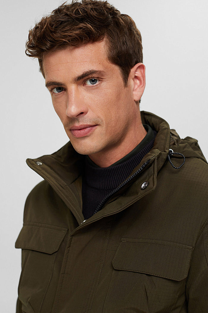 Jackets outdoor woven, DARK KHAKI, detail image number 5