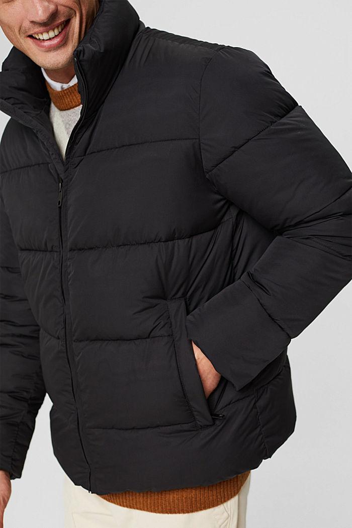 En matière recyclée: la veste matelassée résistante aux intempéries, BLACK, detail image number 2