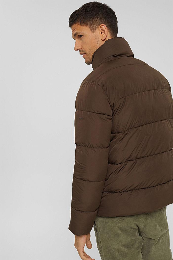Gerecycled: weerbestendige gewatteerde jas, BROWN, detail image number 3