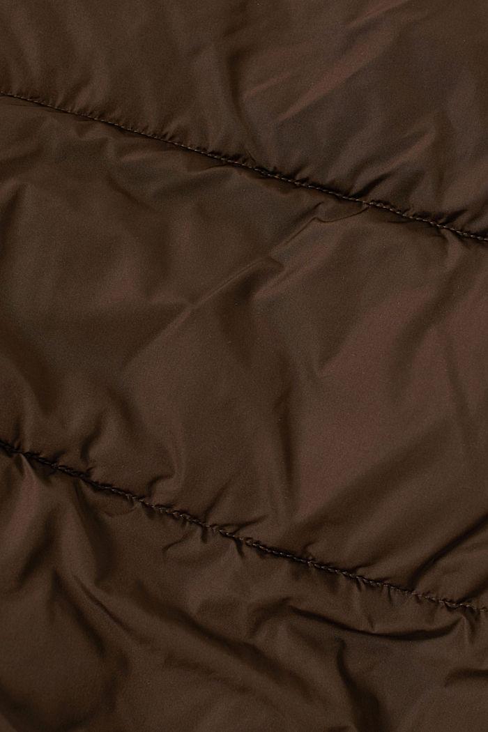 Gerecycled: weerbestendige gewatteerde jas, BROWN, detail image number 5
