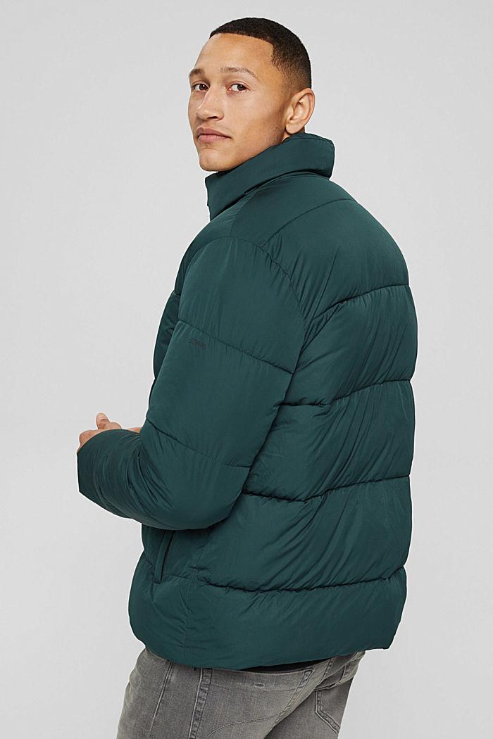 En matière recyclée: la veste matelassée résistante aux intempéries, TEAL BLUE, detail image number 3