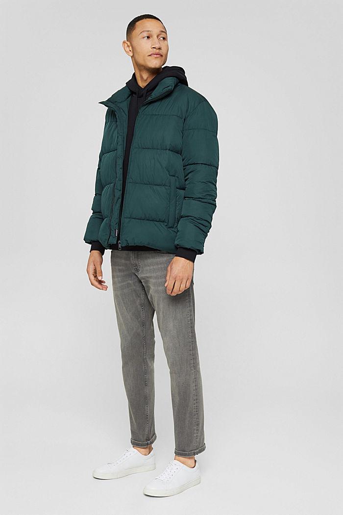 En matière recyclée: la veste matelassée résistante aux intempéries, TEAL BLUE, detail image number 1