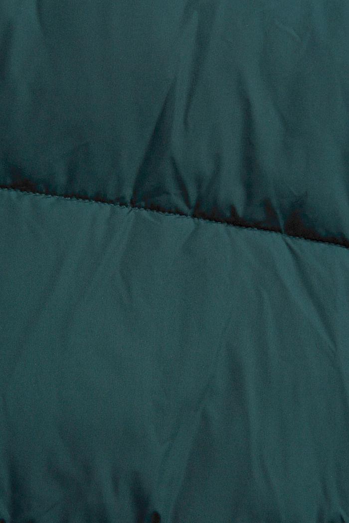 En matière recyclée: la veste matelassée résistante aux intempéries, TEAL BLUE, detail image number 4