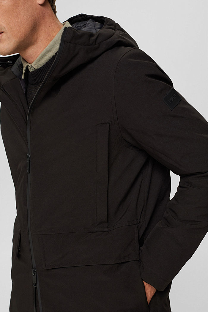 Recycelt: Jacke mit 3M™ Thinsulate™, BLACK, detail image number 2