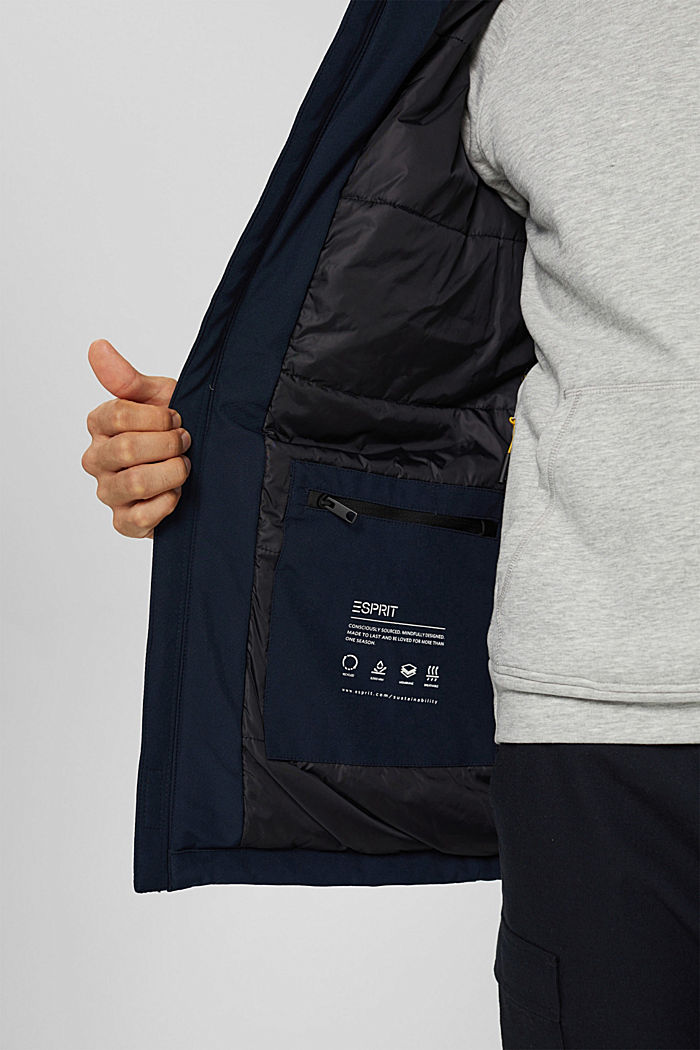 Recycelt: Jacke mit 3M™ Thinsulate™, NAVY, detail image number 7