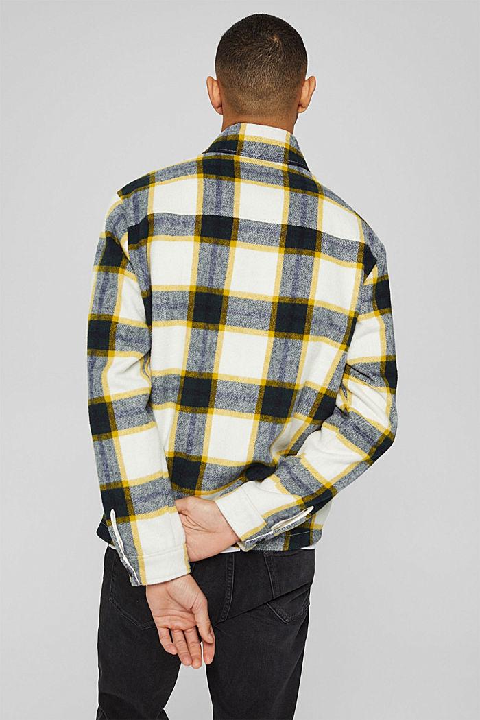 Mit Wolle: Overshirt mit Karomuster, OFF WHITE, detail image number 3