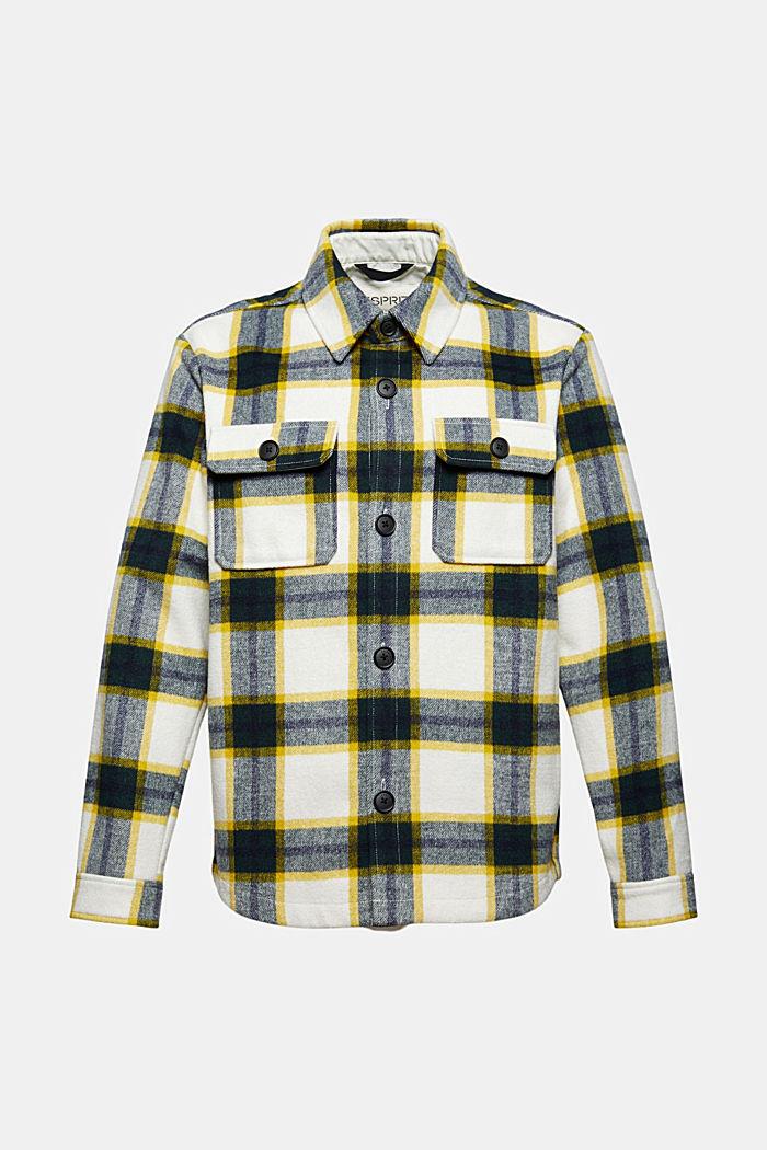 Med ull: skjortjacka med rutigt mönster