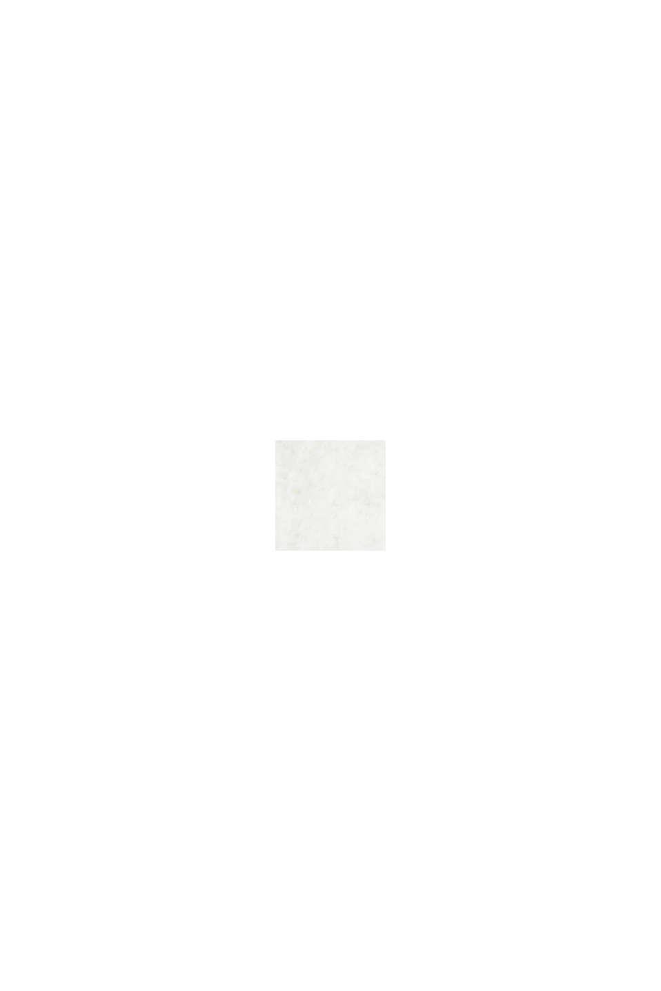 Con lana: overshirt con motivo a quadri, OFF WHITE, swatch