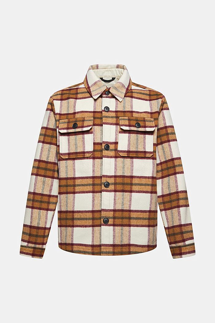Con lana: overshirt con motivo a quadri