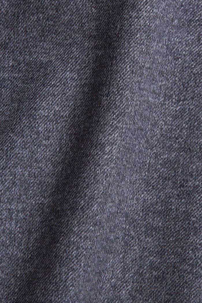 Aus Woll-Mix: meliertes Overshirt, ANTHRACITE, detail image number 4