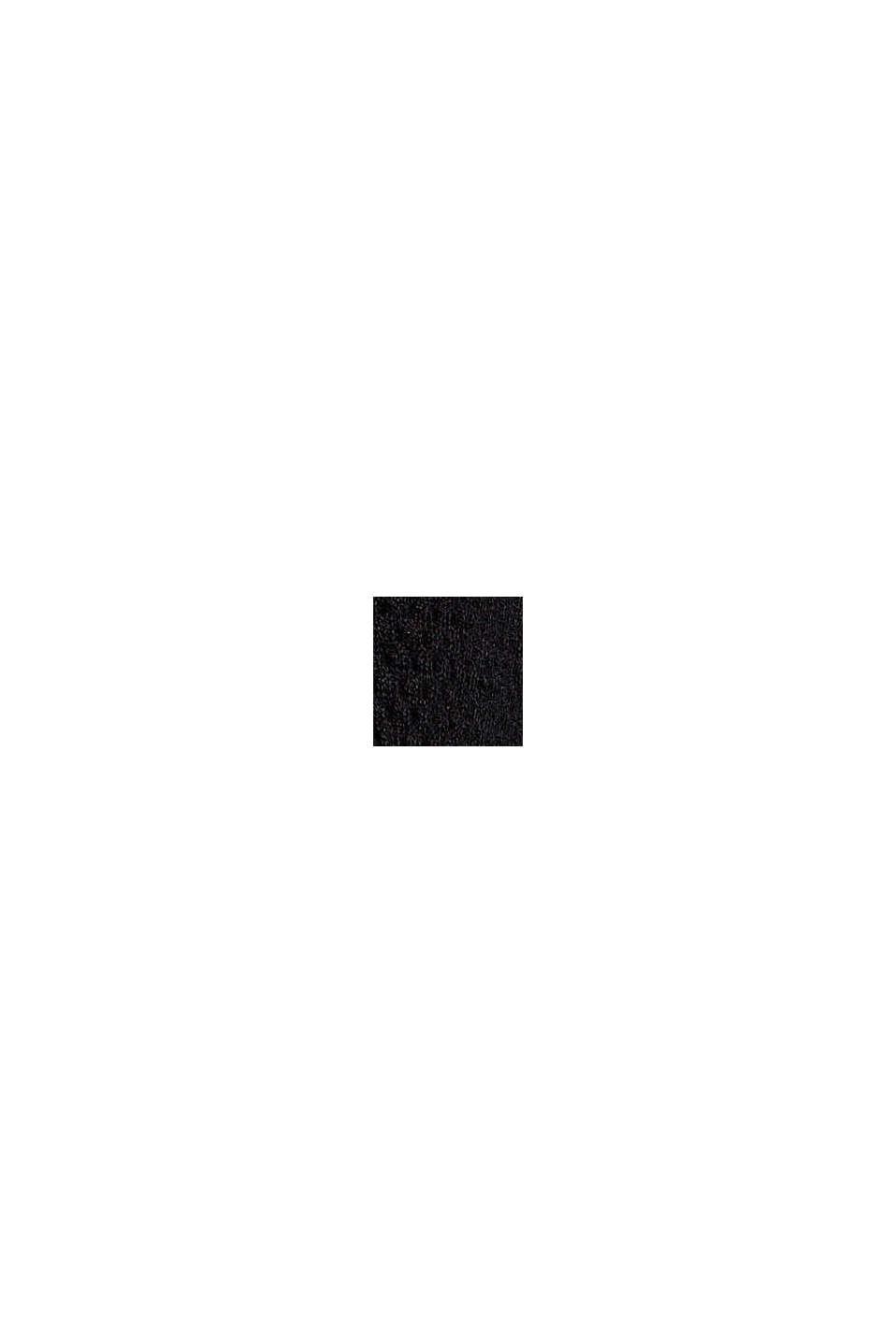 Pullover mit Struktur, 100% Organic Cotton, BLACK, swatch