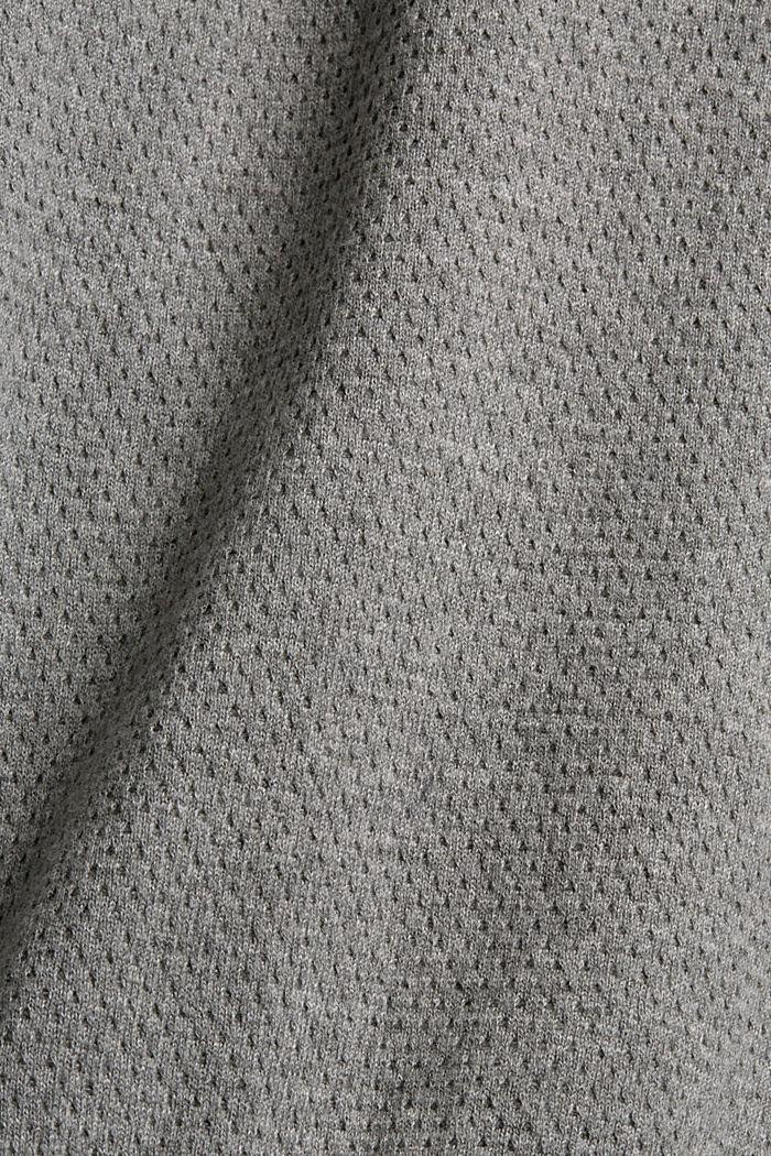 Pull-over à texture, 100% coton biologique, MEDIUM GREY, detail image number 4