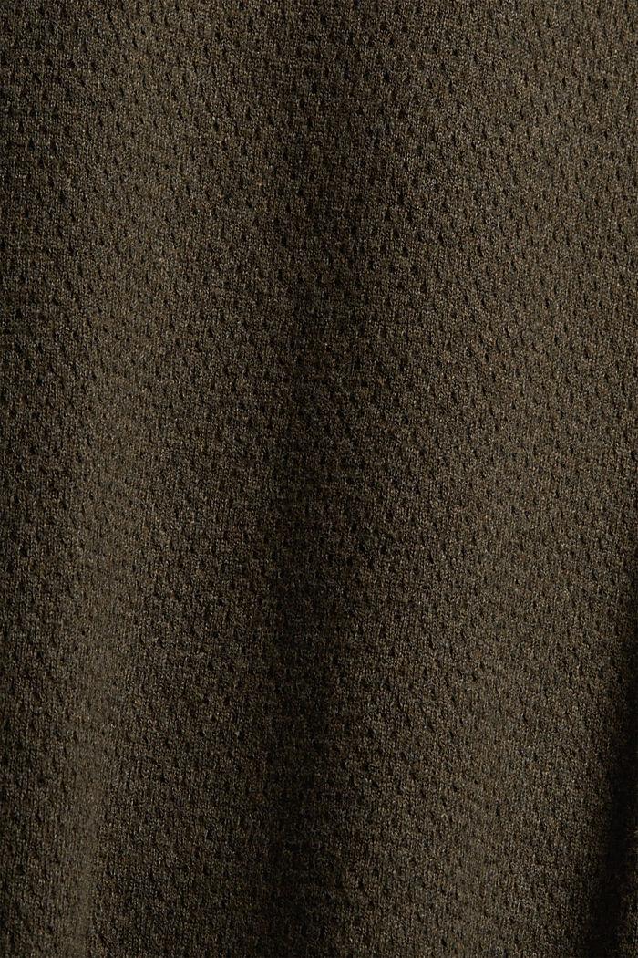 Pullover mit Struktur, 100% Organic Cotton, NEW DARK KHAKI, detail image number 4