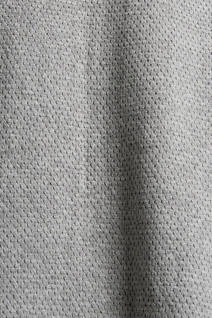 Cardigan zippé en coton biologique, MEDIUM GREY, detail image number 4