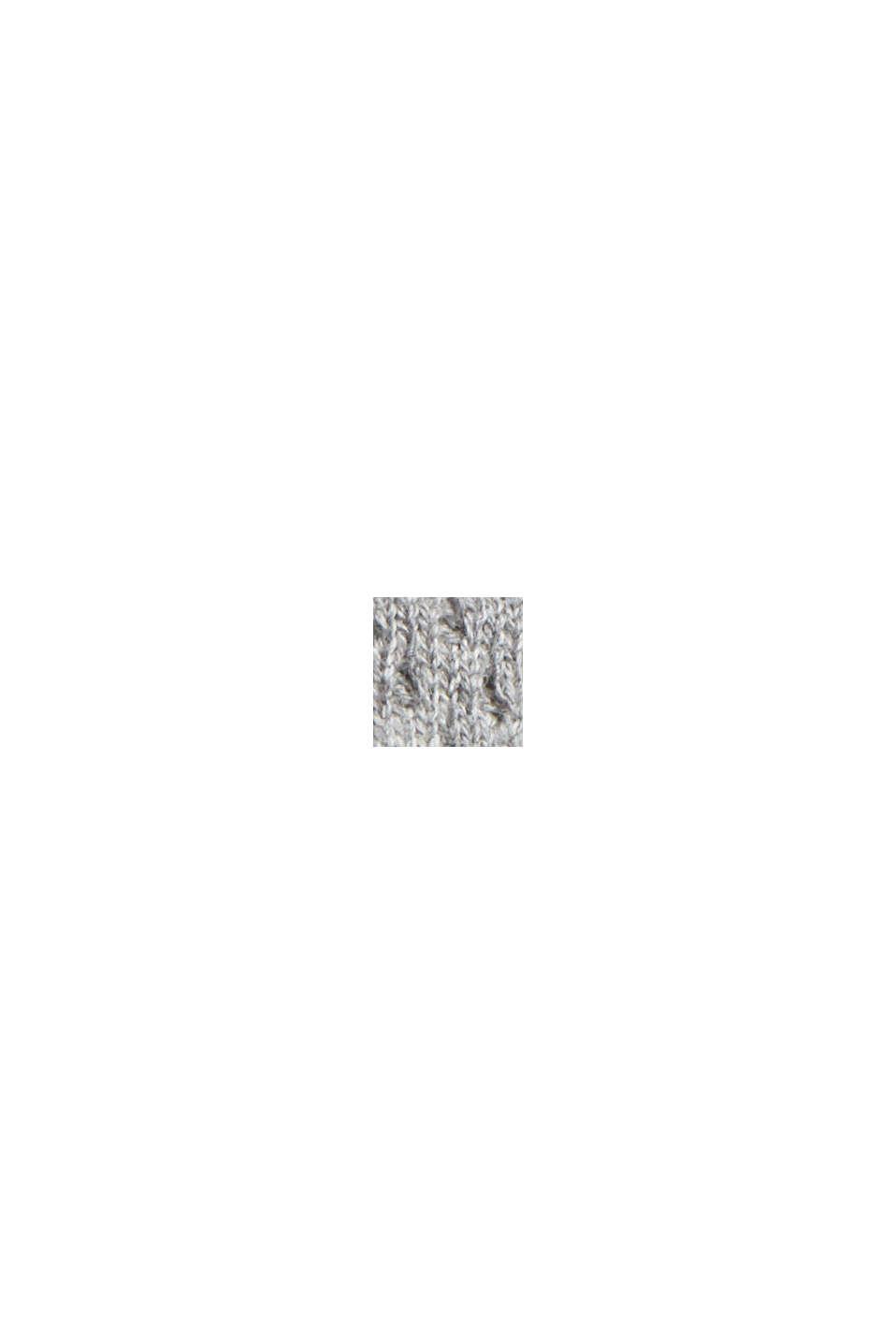 Cardigan zippé en coton biologique, MEDIUM GREY, swatch