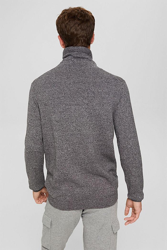 Pullover mit Tunnelkragen aus Bio-Baumwolle, GREY, detail image number 3