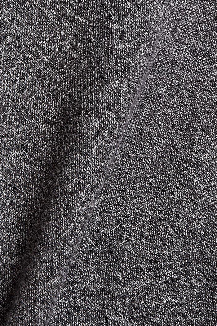 Pullover mit Tunnelkragen aus Bio-Baumwolle, GREY, detail image number 4