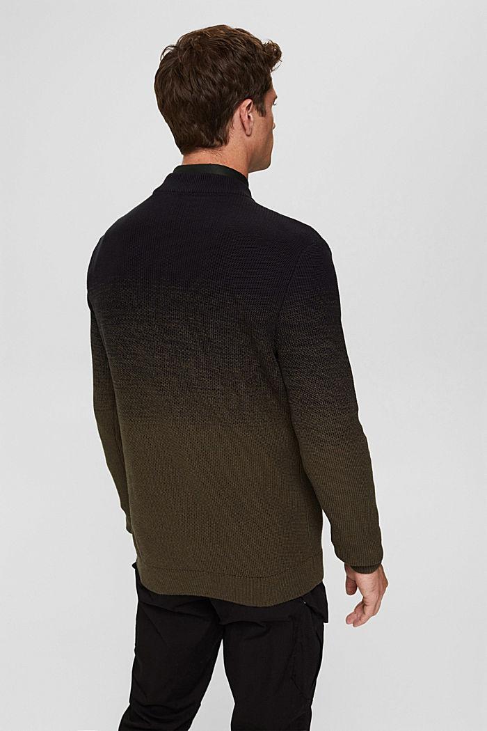 Trui met kleurverloop van organic cotton, BLACK, detail image number 3