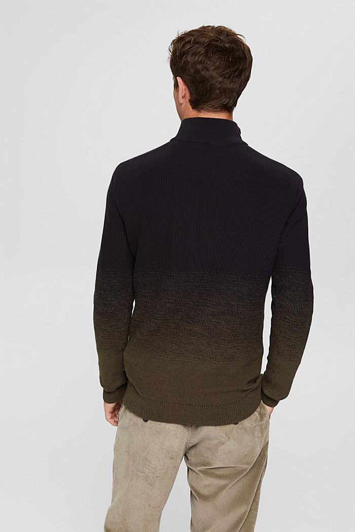 Schipperstrui met kleurverloop van organic cotton, BLACK, detail image number 3