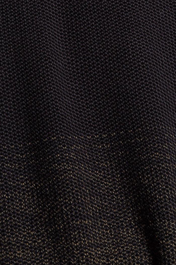 Schipperstrui met kleurverloop van organic cotton, BLACK, detail image number 4