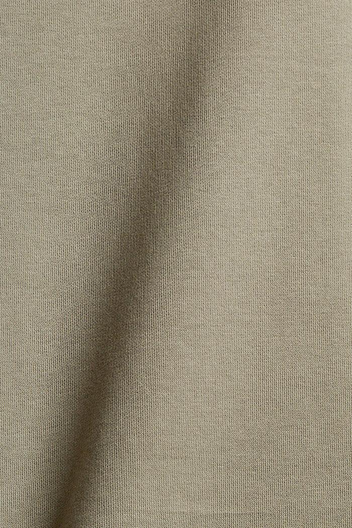 Recycelt: Sweat-Hoodie mit Stickerei, PALE KHAKI, detail image number 4