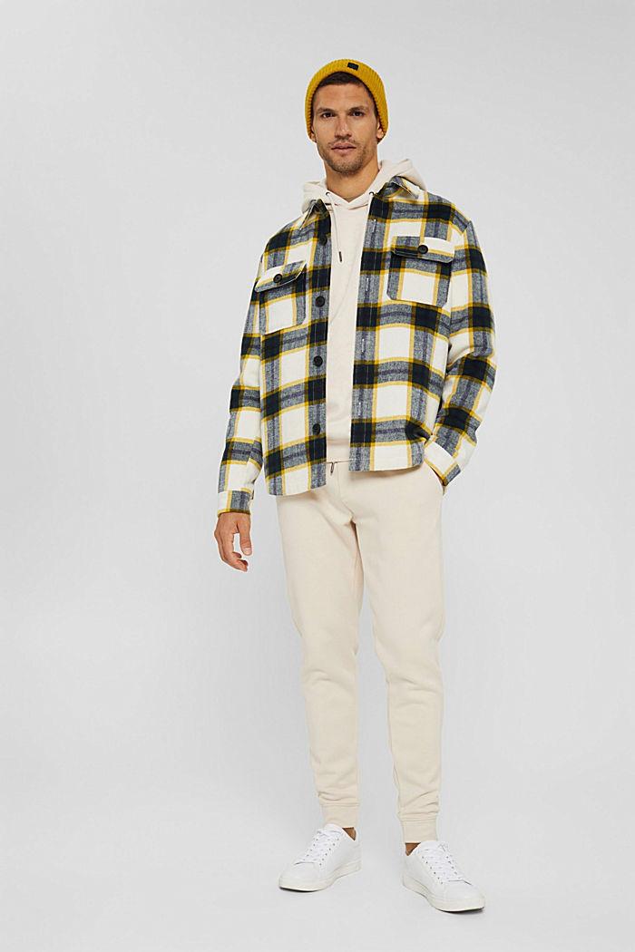 En matière recyclée: le sweat-shirt à capuche orné d'une broderie, CREAM BEIGE, detail image number 1