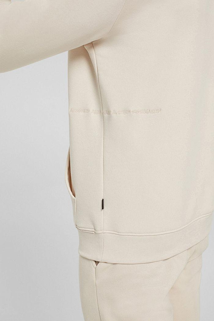 En matière recyclée: le sweat-shirt à capuche orné d'une broderie, CREAM BEIGE, detail image number 2
