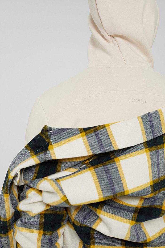 En matière recyclée: le sweat-shirt à capuche orné d'une broderie, CREAM BEIGE, detail image number 7