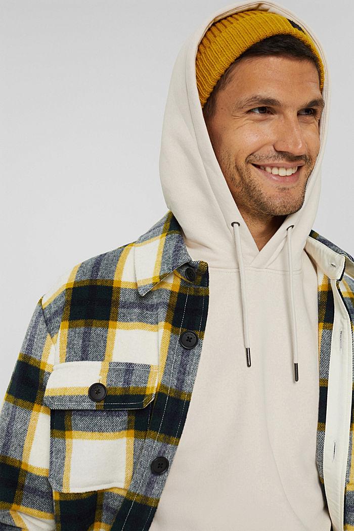 En matière recyclée: le sweat-shirt à capuche orné d'une broderie, CREAM BEIGE, detail image number 6