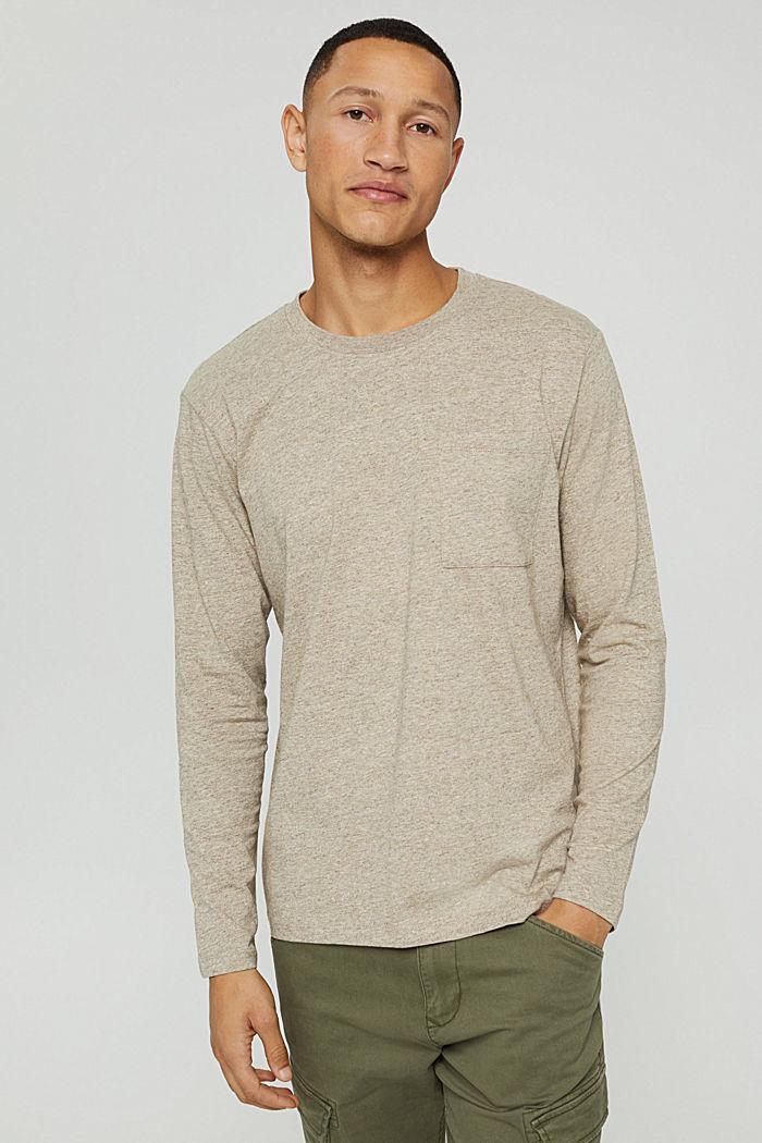 Jersey-Longsleeve aus 100% Baumwolle