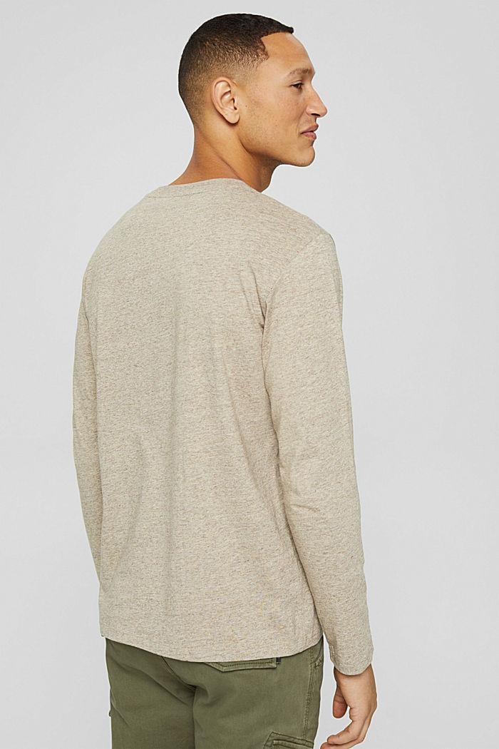 T-shirt en jersey à manches longues, en 100 % coton, BEIGE, detail image number 3