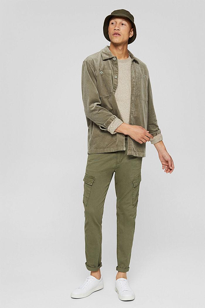 T-shirt en jersey à manches longues, en 100 % coton, BEIGE, detail image number 2