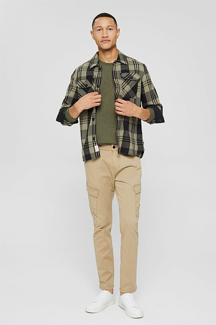 T-shirt en jersey à manches longues, en 100 % coton, DARK KHAKI, detail image number 2