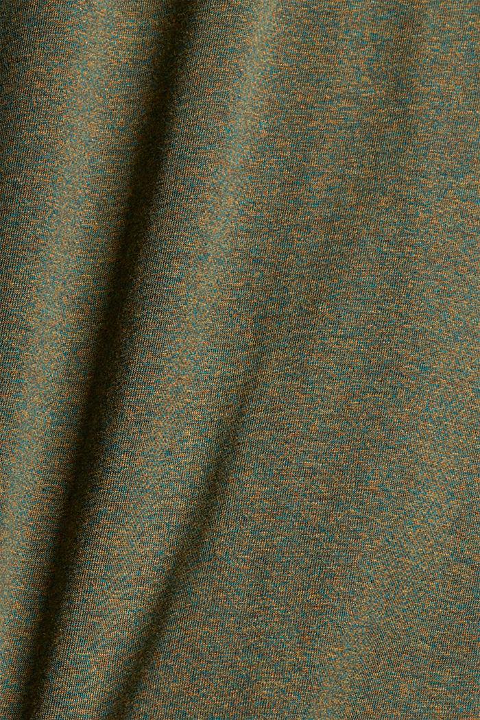 T-shirt en jersey à manches longues, en 100 % coton, DARK KHAKI, detail image number 4