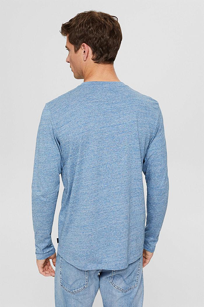 T-shirt en jersey à manches longues, en 100 % coton, BLUE, detail image number 3