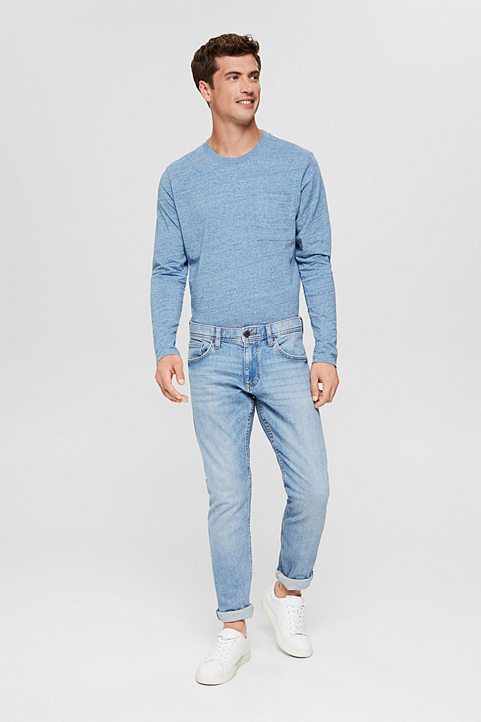 T-shirt en jersey à manches longues, en 100 % coton, BLUE, detail image number 5