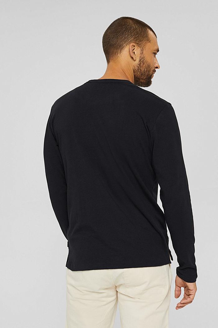 Jersey longsleeve van 100% biologisch katoen, BLACK, detail image number 3