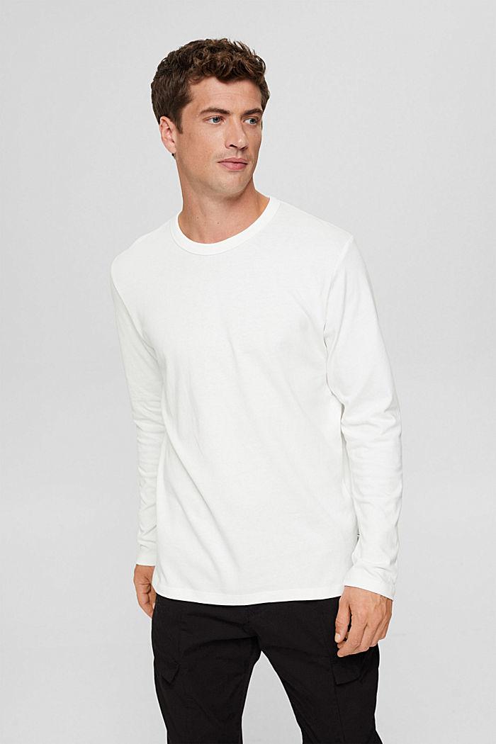 Camiseta de manga larga en jersey, 100% algodón ecológico, OFF WHITE, detail image number 0