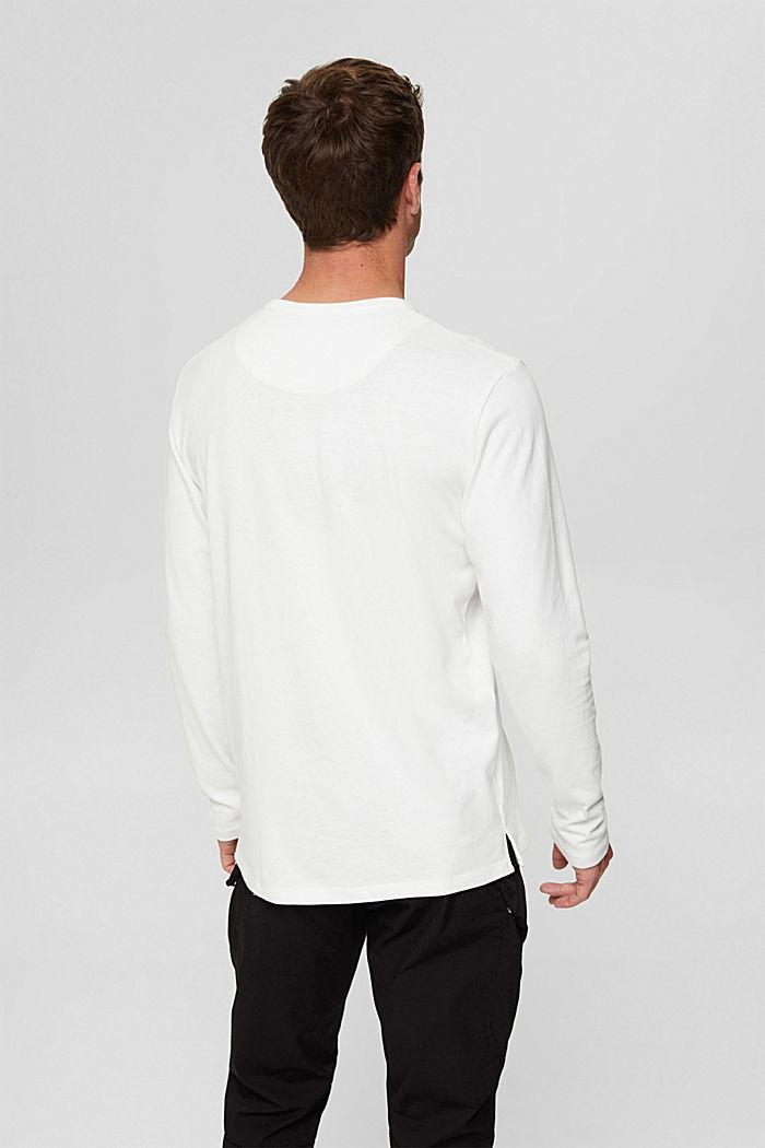 Camiseta de manga larga en jersey, 100% algodón ecológico, OFF WHITE, detail image number 3
