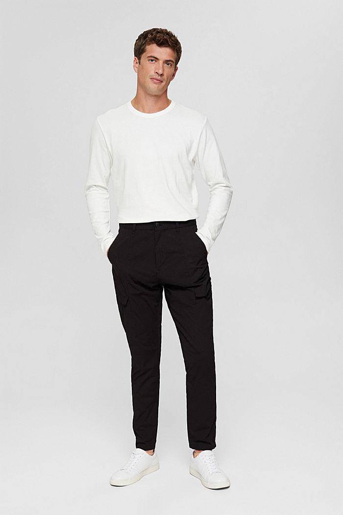 Camiseta de manga larga en jersey, 100% algodón ecológico, OFF WHITE, detail image number 6