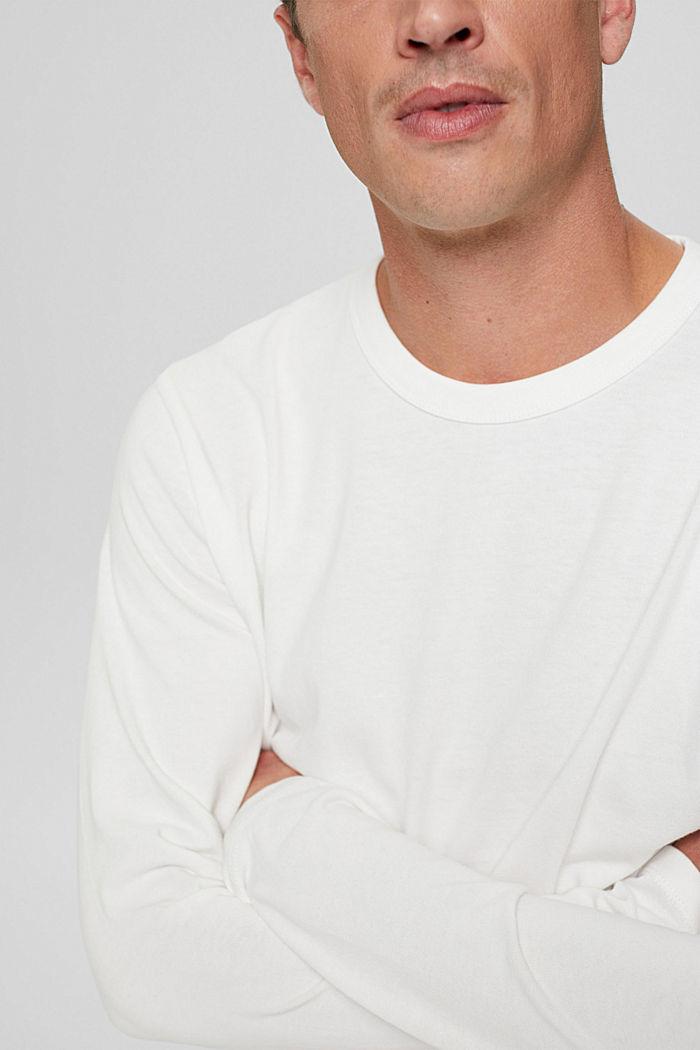 Camiseta de manga larga en jersey, 100% algodón ecológico, OFF WHITE, detail image number 1