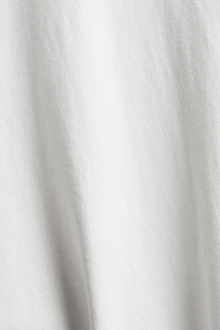 Camiseta de manga larga en jersey, 100% algodón ecológico, OFF WHITE, detail image number 5