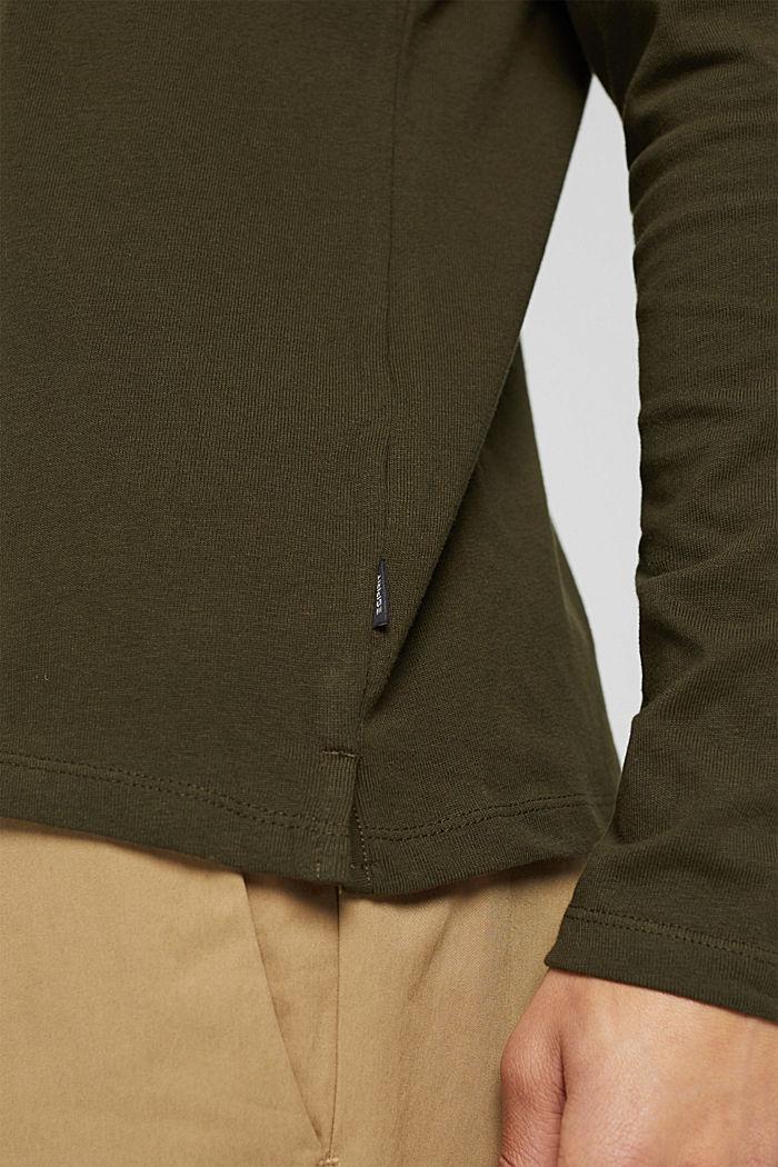 Jersey-Longsleeve aus 100% Organic Cotton, DARK KHAKI, detail image number 1
