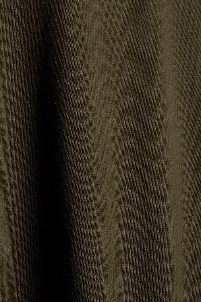 Jersey-Longsleeve aus 100% Organic Cotton, DARK KHAKI, detail image number 5
